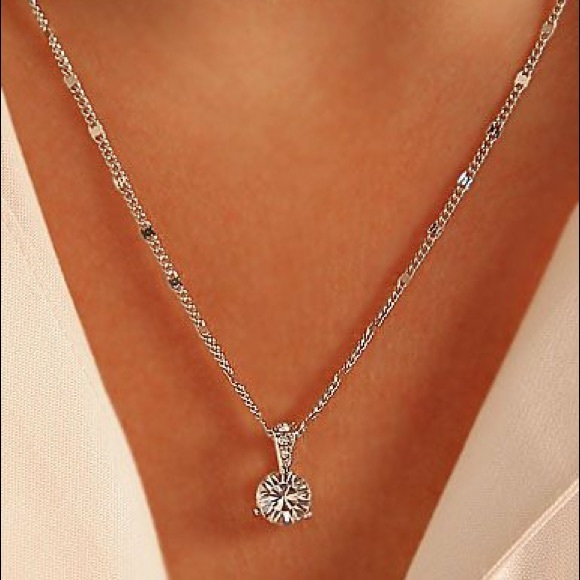 585e5fb5718 Swarovski Jewelry | Solitaire Crystal Pendant 18 Necklace | Poshmark